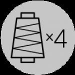Четырехниточные промышленные оверлоки