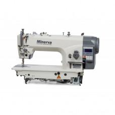 Minerva M6160JE4-H прямострочная машина с игольным продвижением и прямым приводом для тяжёлых тканей
